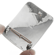 Southwestern Bear Paw Silver Belt Buckle 23359