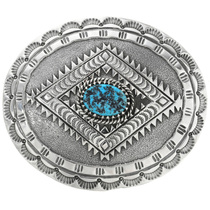Turquoise Silver Buckle 26251
