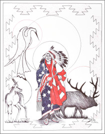 Limited Edition Native American Print by Navajo artist Frankie C. Nez 2