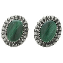 Malachite Southwest Silver Earrings 22037