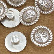 """Texas Ranger Silver Star Concho 1"""""""