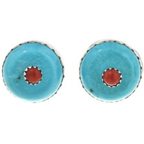 Turquoise Coral Dot Earrings 25395