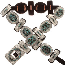 Turquoise Cluster Concho Belt 25627