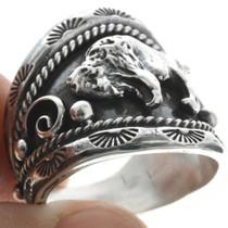 Navajo Buffalo Sterling Ring 22532