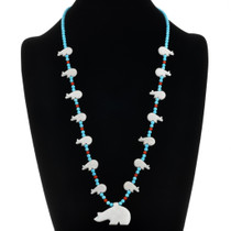 Walking Bear Fetish Necklace 20719