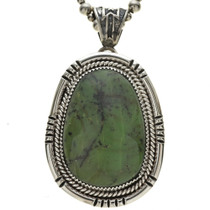 Sterling Jade Native American Pendant 25371