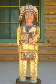 3 Foot Cigar Store Wooden Indian by Frank Gallaghe