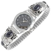 Navajo Onyx Silver Ladies Watch 23007