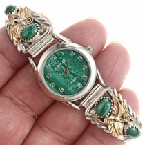 Gold Malachite Watch 24350