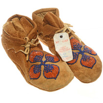 Early american Museum Beaded Moccasins 27259
