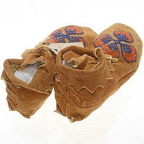 Plains Indian Floral Beaded Moccasins 27259
