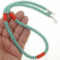 Navajo Turquoise Necklace 24719
