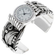 Native Silver Watch Bracelet 24432