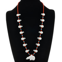 Navajo Bear Fetish Necklace 20726