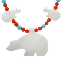 Carved Bear Fetish Necklace 20726