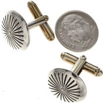 Native American Silver Starburst Cuff Links 19622