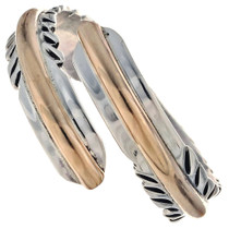Gold Silver Feather Ring 24819