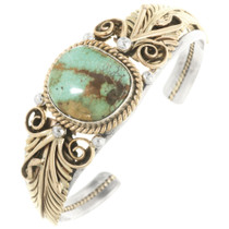 Native American Turquoise Gold Bracelet 17624