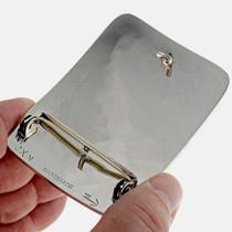 Inlaid Silver Southwest Belt Buckle 23488
