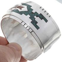 Inlaid Navajo Silver Bracelet 25737