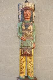Cigar Store Wooden Indian by Frank Gallagher 5 Footer