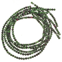 Zoisite Rondel Beads 4mm by 6mm