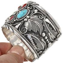 Silver Gold Navajo Mens Bracelet 11328