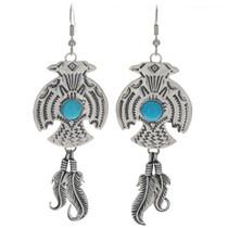 Hammered Thunderbird Earrings