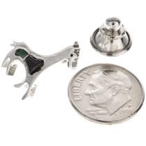 Navajo Inlaid Sterling Tie Tack Hat Pin 15389
