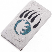 Turquoise Bear Paw Money Clip 23057