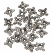 1 Ounce of 4mm x 8mm Silver Bali Bead Spacers 0147