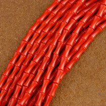 Coral Beads 18 inch Long Strand 3mm by 8mm Beads