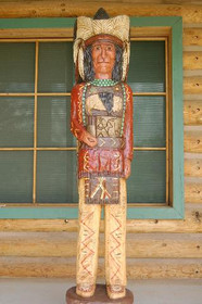 Frank Gallagher Cigar Store Wooden Indian 6 Footer 1