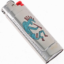 Kokopelli Turquoise Bic Lighter Case 23361