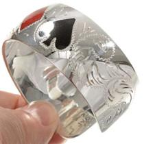 Engraved Sterling Bracelet Cuff 22417