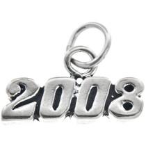 Sterling Silver 2008 Horizontal Charm Bracelet Charm Pendant Necklace