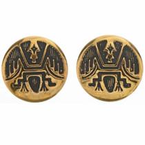 Gold Hopi Style Post Earrings 14669