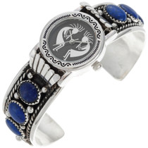 Genuine Lapis Watch Bracelet 24434