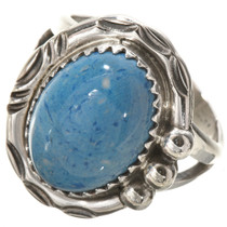 Blue Denim Lapis Silver Navajo Ring 28743