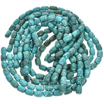 13mm by 19mm Turquoise Magnesite Beads 16 inch Long Strand 5034