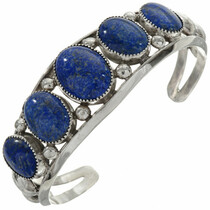 Denim Lapis Sterling Cuff 27698