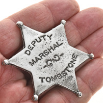 Deputy Marshal Western Silver Badge 28994