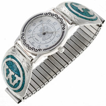 Inlaid Turquoise Initial Watch 24263