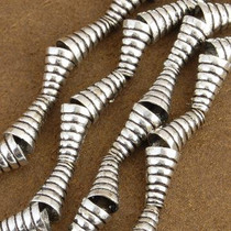 8mm x 14mm Silver Findings Pair of Cone Bali Beads 0118