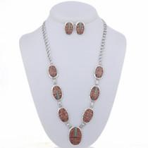 Spiny Oyster Necklace Set 24649