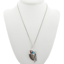 Turquoise Coral Bear Claw Pendant 24588