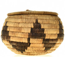 Alternating Mountain Step Pattern Basket