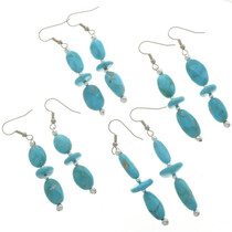 Natural Blue Turquoise Earrings 28275