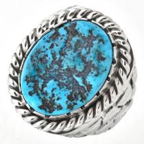 Natural Kingman Turquoise Mens Ring