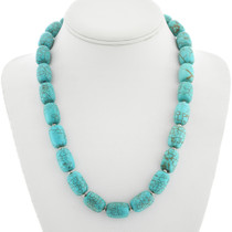 Navajo Turquoise Magnesite Necklace 23352